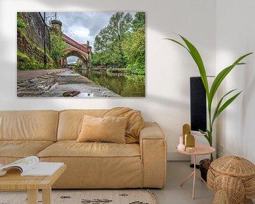 Spoorbrug over het Rochdale Canal, Manchester