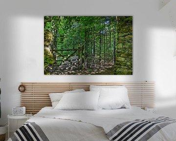 Draaideur in het bos