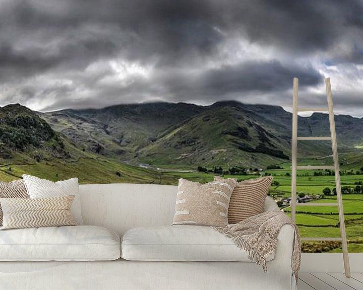 Sfeerimpressie behang: Panorama Lake District, Engeland van Frans Blok