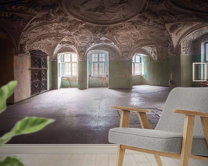 Sfeerimpressie behang: Houdt het Plafond Vast. van Roman Robroek