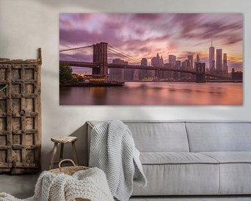 New York Skyline - Brooklyn Bridge 2016 (2) van Tux Photography