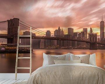 New York Skyline - Brooklyn Bridge 2016 (1) van Tux Photography