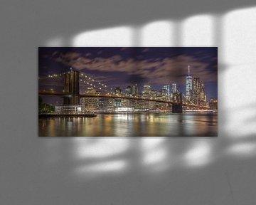 New York Skyline - Brooklyn Bridge 2016 (6) van Tux Photography