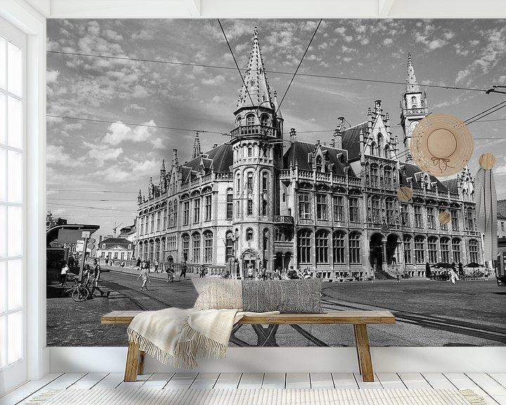 Sfeerimpressie behang: Oude postkantoor Gent van Danny Vroemen