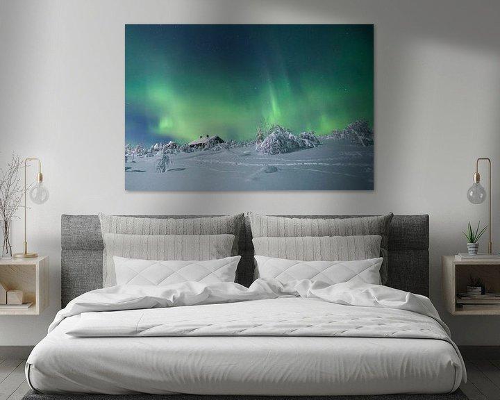Beispiel: Landschaft von Noorderlicht und Haus in Finnland von Hans Kluppel