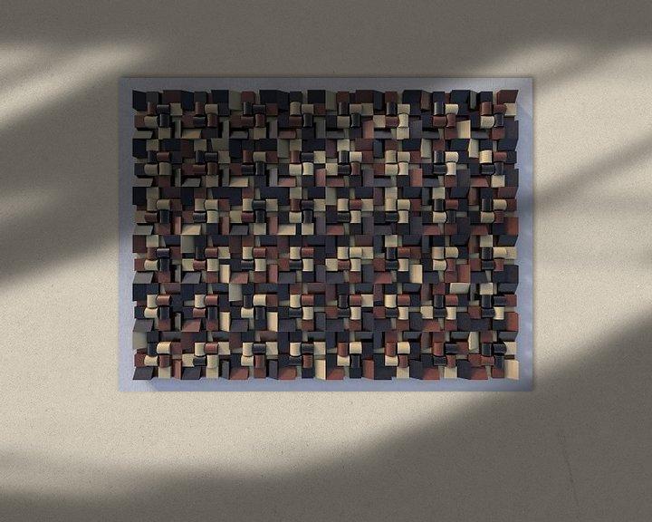 Sfeerimpressie: Reliëf N1 Chocola van Frans Blok