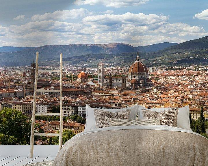 Sfeerimpressie behang: Florence stadsgezicht van Dennis van de Water