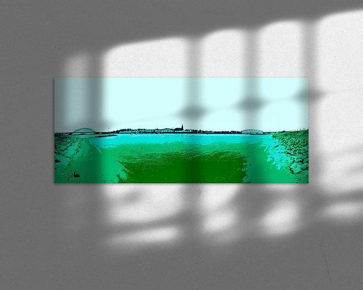 Beispiel: Nijmegen in groen von Maerten Prins