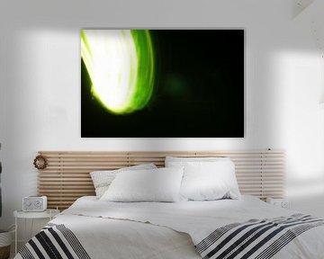 Playing with green light van Karen Boer-Gijsman