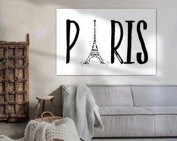 PARIS Typography van Melanie Viola