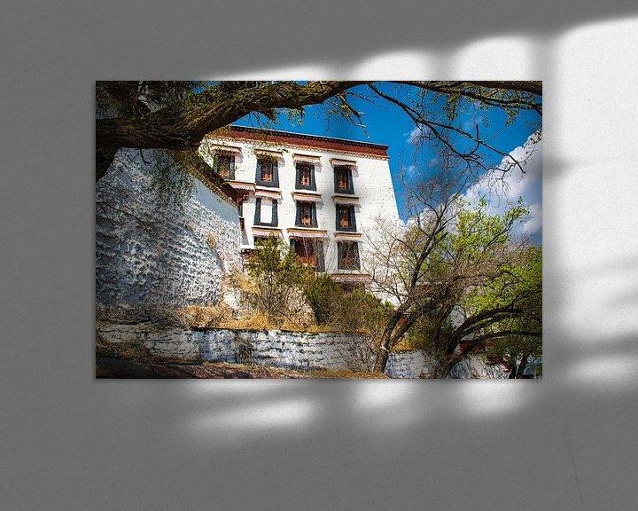 Sfeerimpressie: Potala paleis in Lhasa, Tibet van Rietje Bulthuis