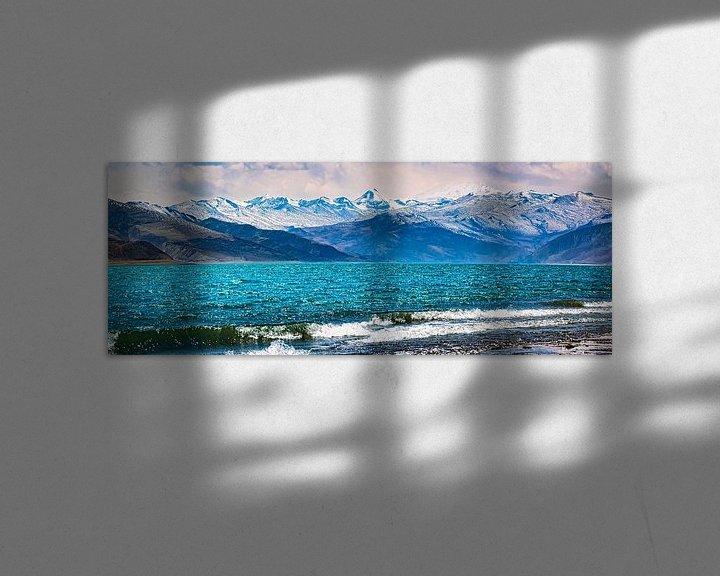 Sfeerimpressie: Bergmeer bij Nakartse, Lhokha, Tibet. Panorama van Rietje Bulthuis