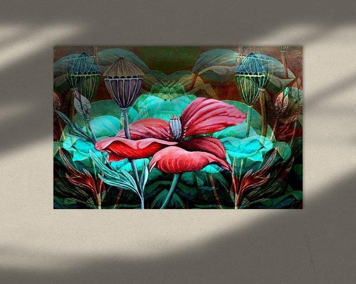 Beispiel: Florale Spielerei A  (Mohn) von Gertrud Scheffler