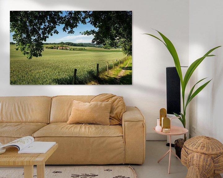 Sfeerimpressie: Typisch Limburgs Landschap in de buurt van Walem van John Kreukniet