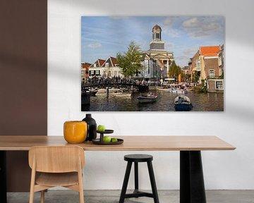 Bootje varen in Leiden van Jan Kranendonk