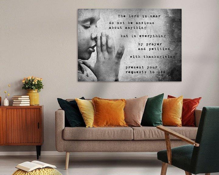 Beispiel: Christian prayer text design Philippians 4:5-6 von Heleen van de Ven