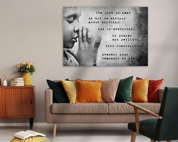 Christelijk gebed tekst Filippenzen 4:5-6 von Heleen van de Ven