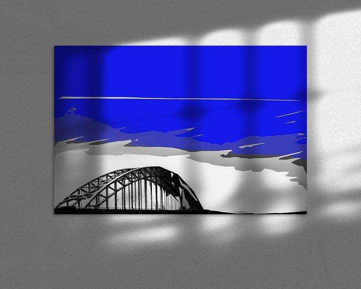 Sfeerimpressie: Oude Waalbrug te Nijmegen. van Maerten Prins