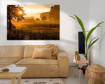 Regenachtige zonsondergang van Thomas van der Willik