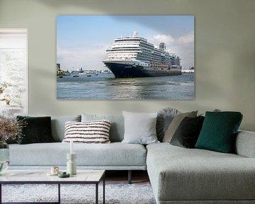 Het MS Koningsdam in Rotterdam van MS Fotografie | Marc van der Stelt