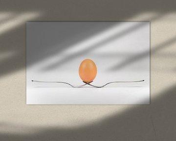 Balancerend ei op twee vorken van Tonko Oosterink