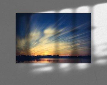 Arhemse Zonsondergang bij de Rijkerswoerdse Plassen. von Robert Wiggers