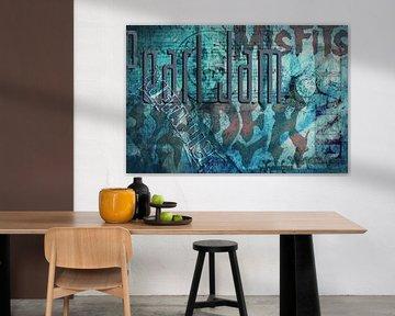 Musical, typografische collage von Rietje Bulthuis