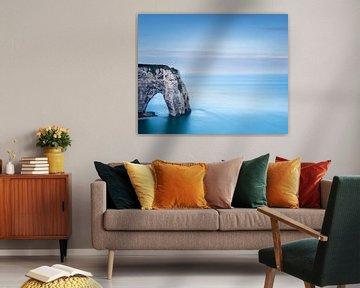 Les falaises d'Etretat - Normandie van Tony Ruiter