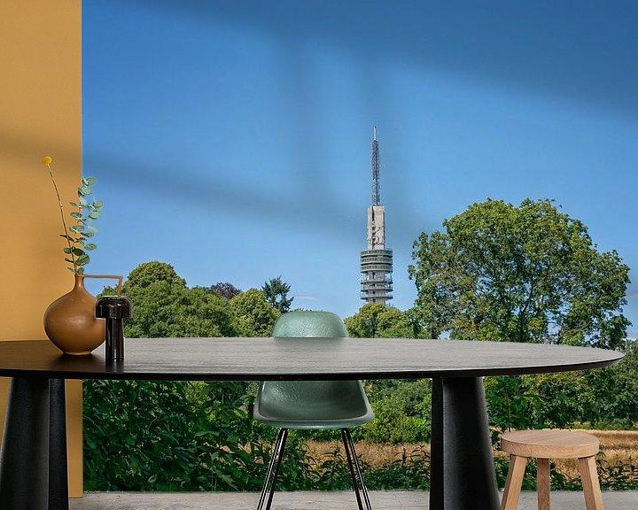 Sfeerimpressie behang: Hilversum, heksenweitje en televisie toren van Pascal Raymond Dorland