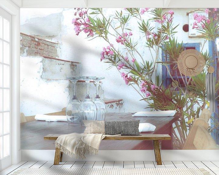 Sfeerimpressie behang: Aquarel van Jellie van Althuis