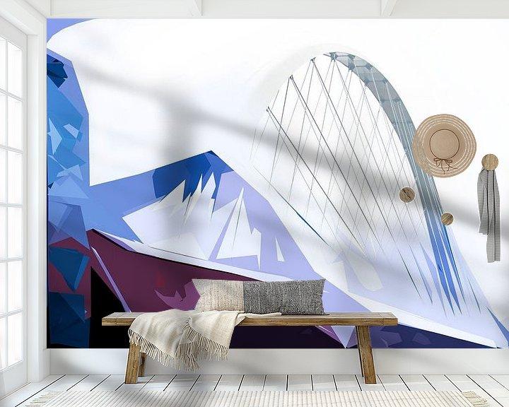 Sfeerimpressie behang: Oversteek Nijmegen Compositie van Maerten Prins