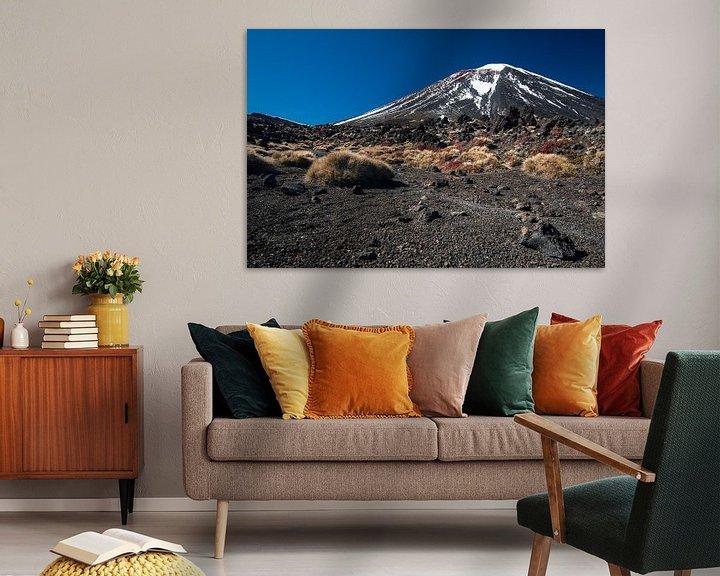 Sfeerimpressie: Mount Ngauruhoe, Tongariro, Nieuw-Zeeland van Martijn Smeets