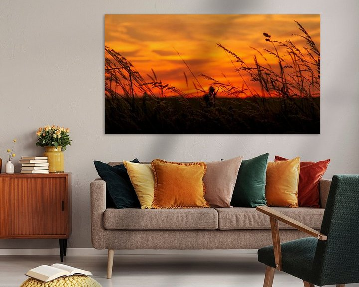 Sfeerimpressie: Zonsondergang bij Trintelen in Zuid-Limburg van John Kreukniet