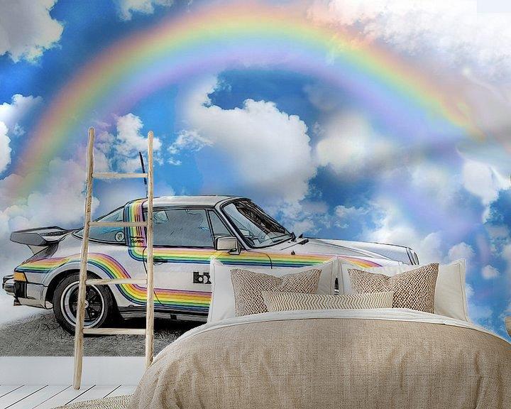 Beispiel fototapete: 911 Turbo-Targa-Rainbow bb Posche von Roland Klinge