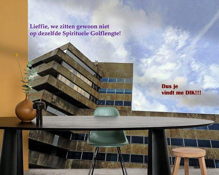 Sfeerimpressie behang: Small Talk: Dus Je Vindt Me Dik! van MoArt (Maurice Heuts)