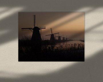 Windmil Kinderdijk  van Marjon van Vuuren