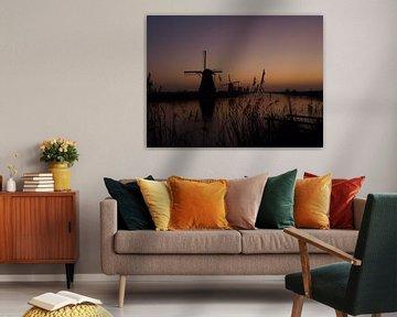 Windmill  Kinderdijk 2 van Marjon van Vuuren