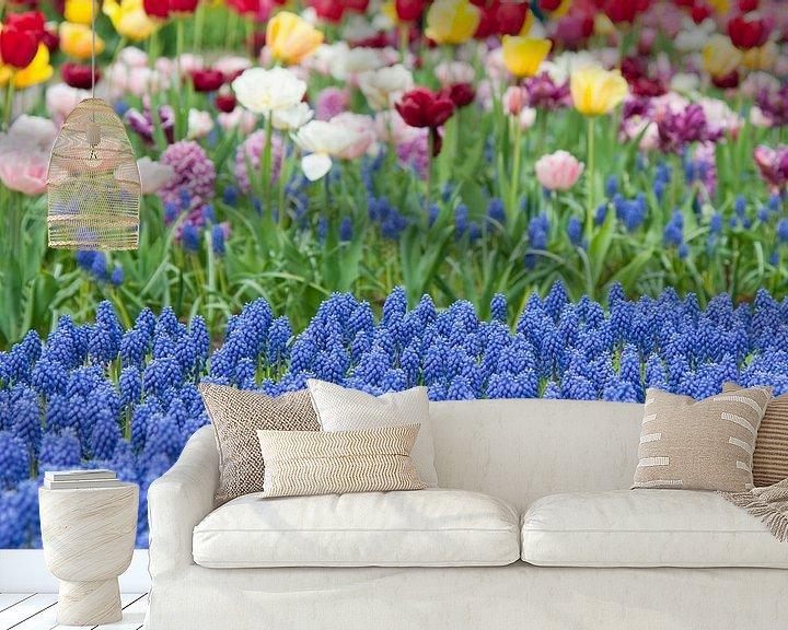 Beispiel fototapete: Flowerfield in Keukenhof, the Netherlands von Tamara Witjes