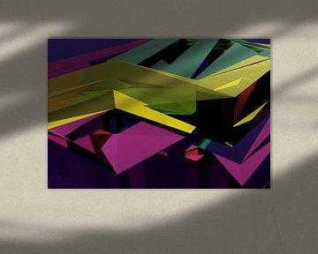 Tha Maze 6-2-3 von Pat Bloom - Moderne 3D, abstracte kubistische en futurisme kunst