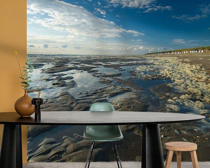 Sfeerimpressie behang: Strand en zee van Aukje Bakker