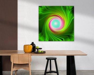Grüne Energie-Spirale von Ramon Labusch