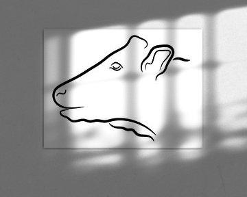 Kuh Kopf Abbildung