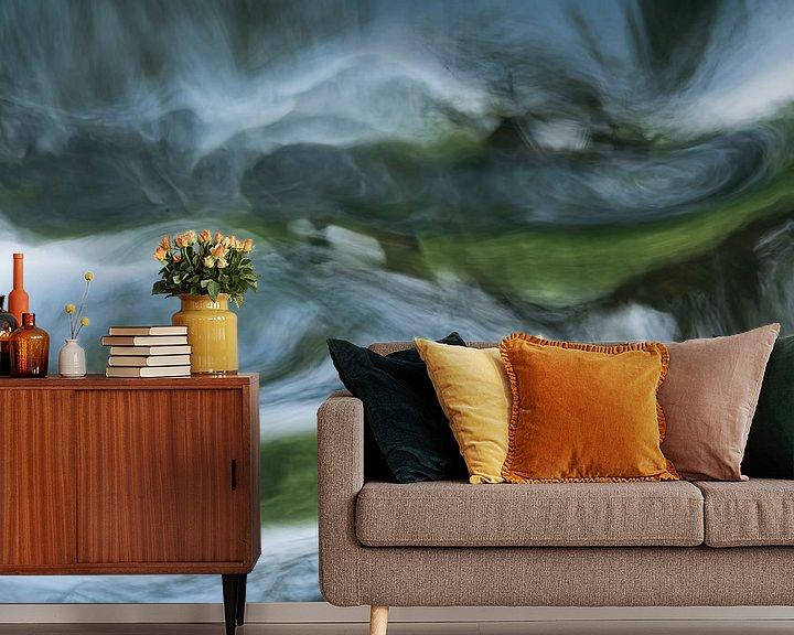 Sfeerimpressie behang: Waterabstractie van Aukje Bakker