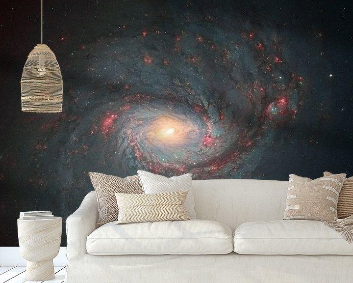 Sfeerimpressie behang: M77 Een spiraalstelsel van André van der Hoeven