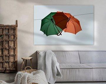 Paraplu's van de regen in de drup. sur Marcel Huisman