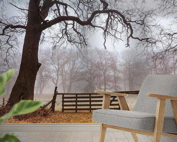 Sfeerimpressie behang: Herfst in de Smeerling. van Ton Drijfhamer