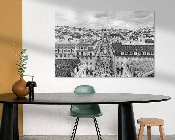 Sfeerimpressie: Rua Augusta in Lissabon van MS Fotografie | Marc van der Stelt