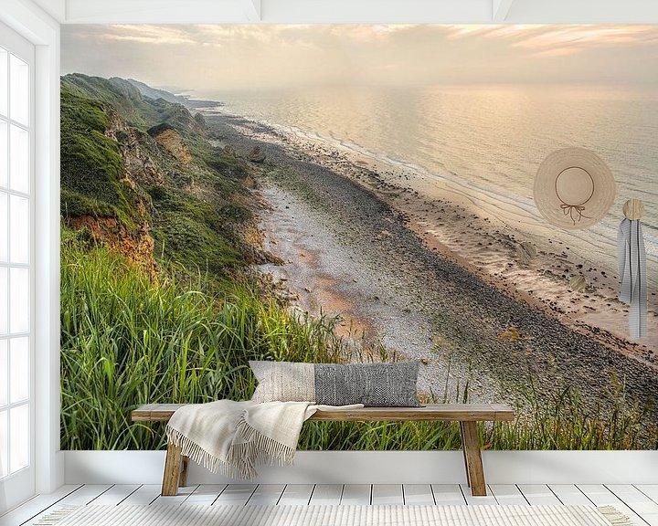 Sfeerimpressie behang: Normandië kust Frankrijk van Rob van der Teen
