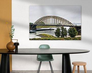 De Waalbrug bij Nijmegen (combinatie HDR en schilderij) van Art by Jeronimo