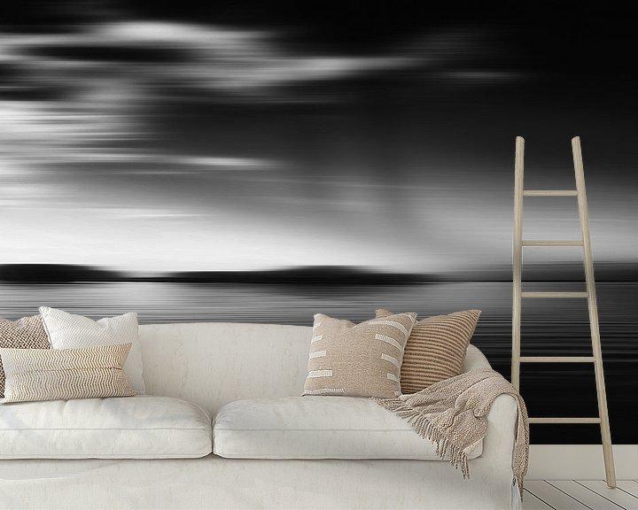 Impression: Paysage marin noir et blanc sur Jan Brons